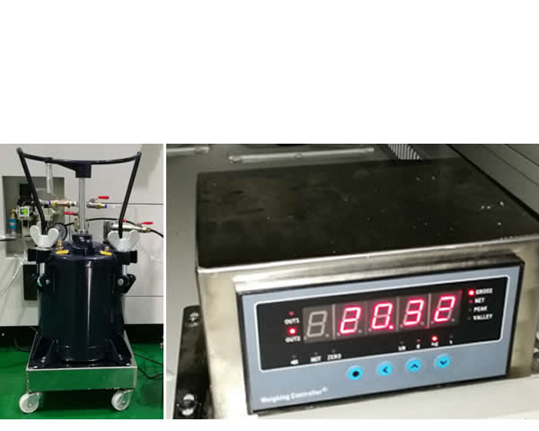 Glue weighing system can avoid missing coating
